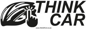 Think Car! Bicycle Helmet Sticker - Black
