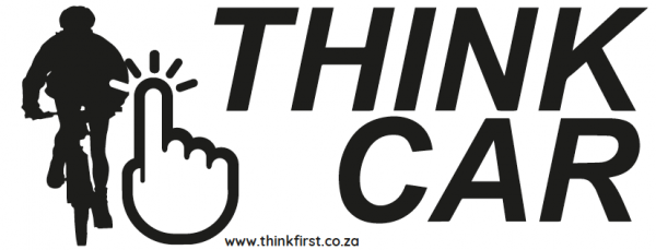 Think Car! Bicycle Sticker - Black