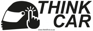 Think Car! Motor Bike Helmet Sticker - Black