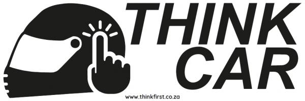 Think Car! Motor Bike Helmet Sticker - Black