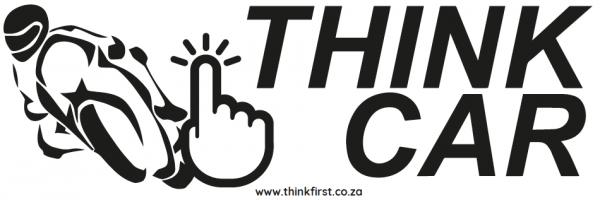 Think Car! Motor Bike Sticker - Black