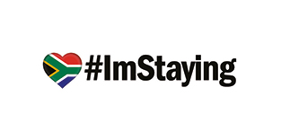 #ImStaying Bumper Sticker | I love South Africa | White Background